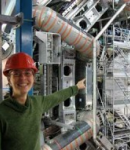 McGill Physics professor Brigitte Vachon at the ATLAS Detector
