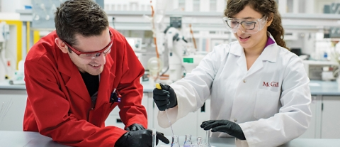 McGill Researchers in a lab