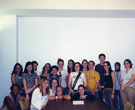 Professor Nelson with incoming Undergraduate Students.