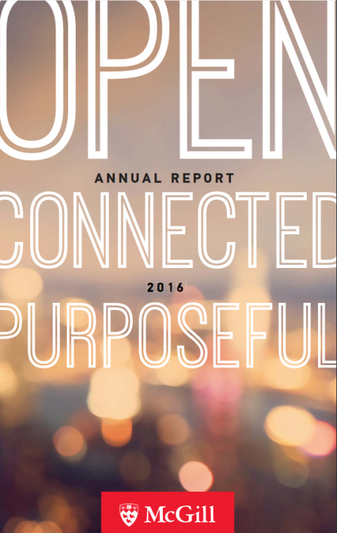 Open. Connected. Purposeful. Annual report 2016