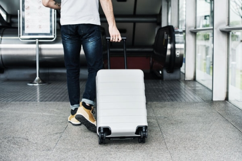 Photo of a man travelling