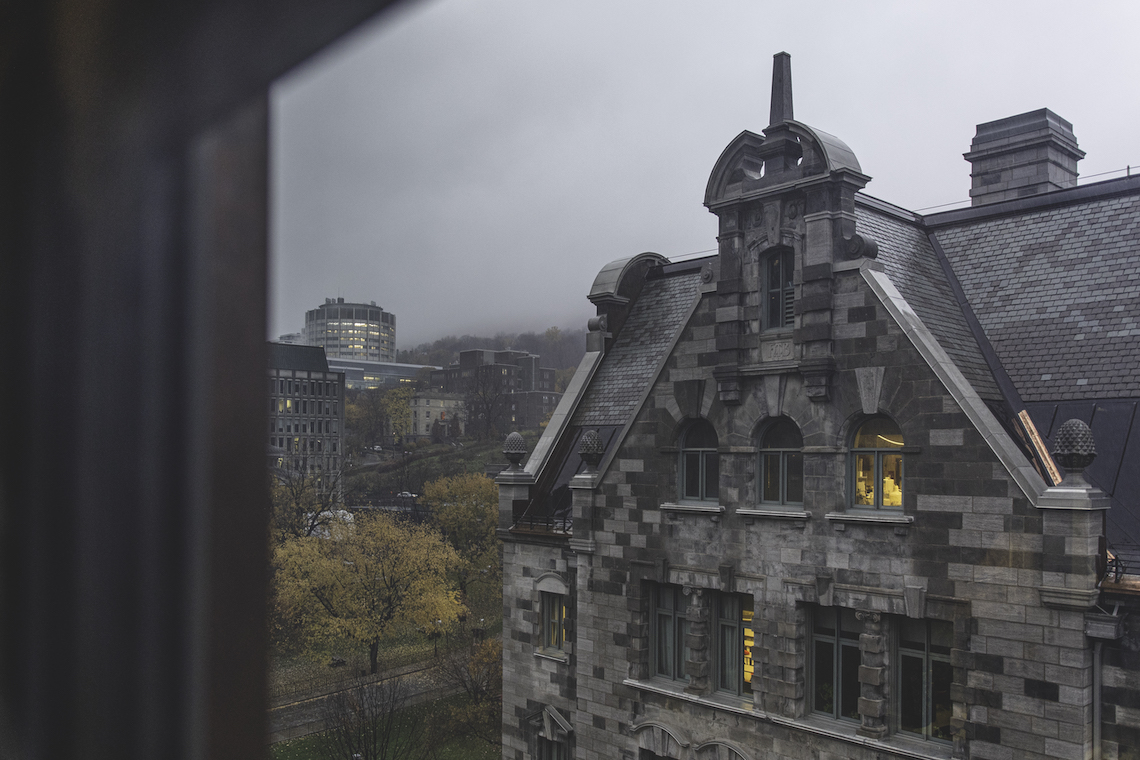 The School from a window.