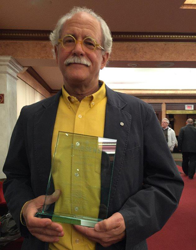 Prof. Robert Mellin with Best Atlantic-Published Book Award