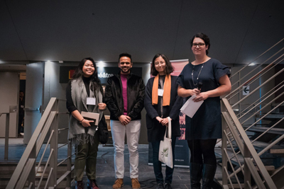 Winning McGill team: Kathleen Bono, Maynak Shekhawat, Yiyi Zhou (plus charrette person)