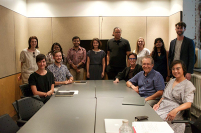 History and Theory students with Profs. Türeli, Theodore, Adams, Pérez-Gómez, and Cheng, September 2018