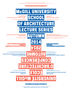 Lecture series poster (Atelier Pastille Rose)