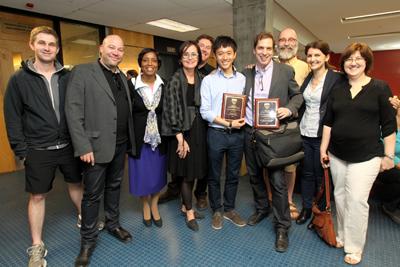 School of Architecture gang celebrates awards (Owen Egan)