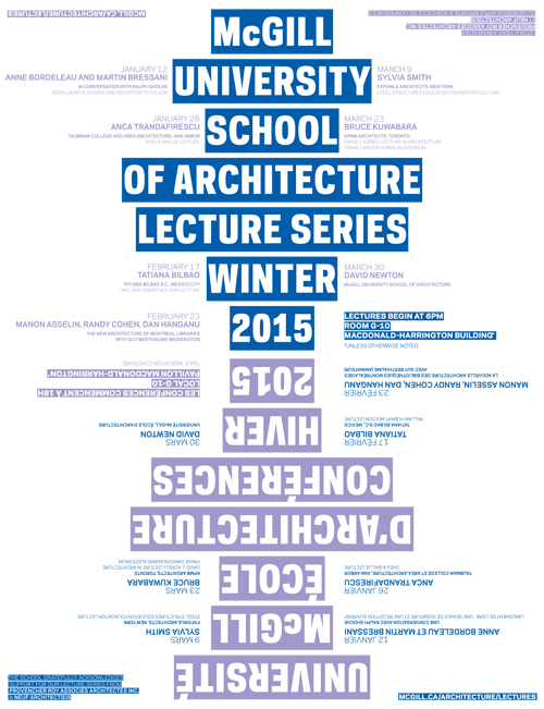 Lecture series poster, Winter 2015 (Atelier Pastille Rose)