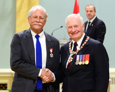 Prof. Robert Mellin and Governor General David Johnston at Rideau Hall, 23 Sept. 2015