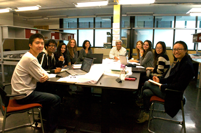 Post-professional M.Arch. students with Prof. Vikram Bhatt, October 2014 (Juan Osorio)