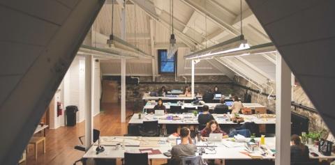 Students Working at Desks
