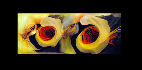Graphic Image of Yellow Flowers