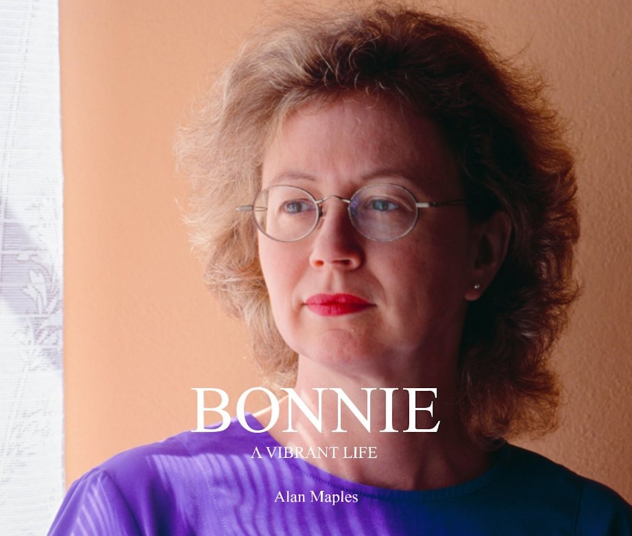 """Bonnie Maples on the cover of a book titled """"Bonnie: A Vibrant Life by Alan Maples""""."""