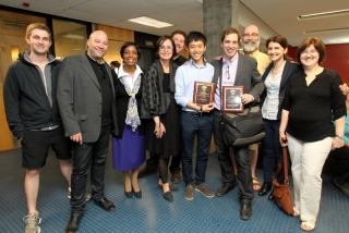 Prof. Martin Bressani and Francis Ng with School colleagues (Owen Egan)