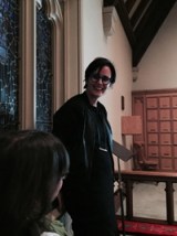 Prof. Annmarie Adams addresses the St. James Literary Society, 22 March 2016 (Peter Gossage)