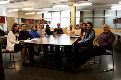 UDH students in studio with Profs. Bhatt and Friedman, October 2016 (Juan Osorio)