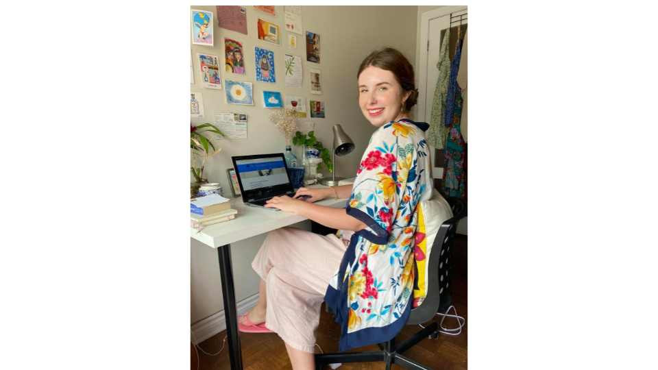 Holly Wethey at her remote workstation.