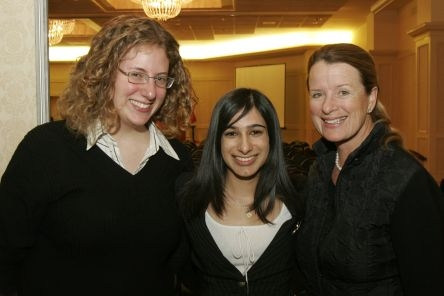 Ms. Tania Zoukin with Naureen Karachiwalla and Shiri Noy, two 2005 recipients of