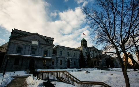 The Arts building in the winter, as seen from beside the Redpath Museum