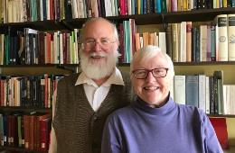 Faith and Kendall Wallis in Faith's office