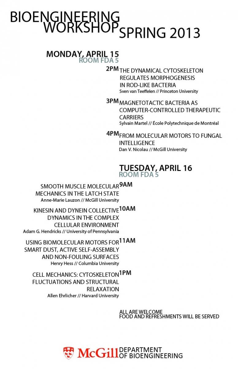 Bioengineering Workshop Poster