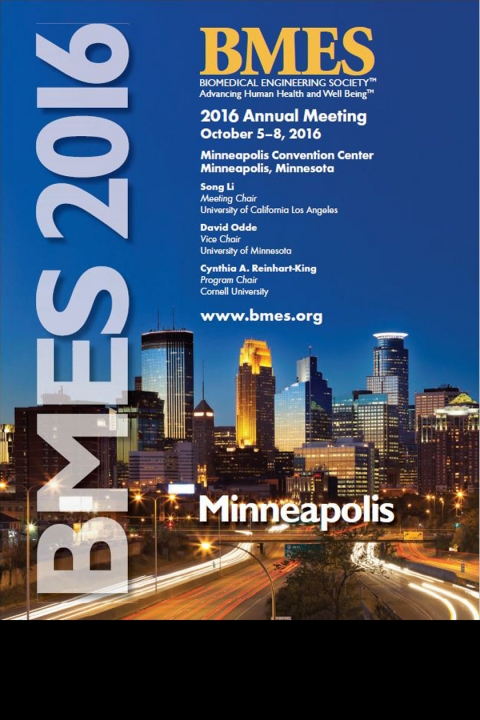 Cover page of the BMES 2016 program