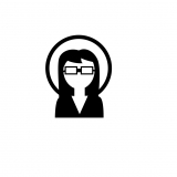 silhouette of student wearing glasses
