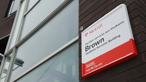 Brown Bldg sign