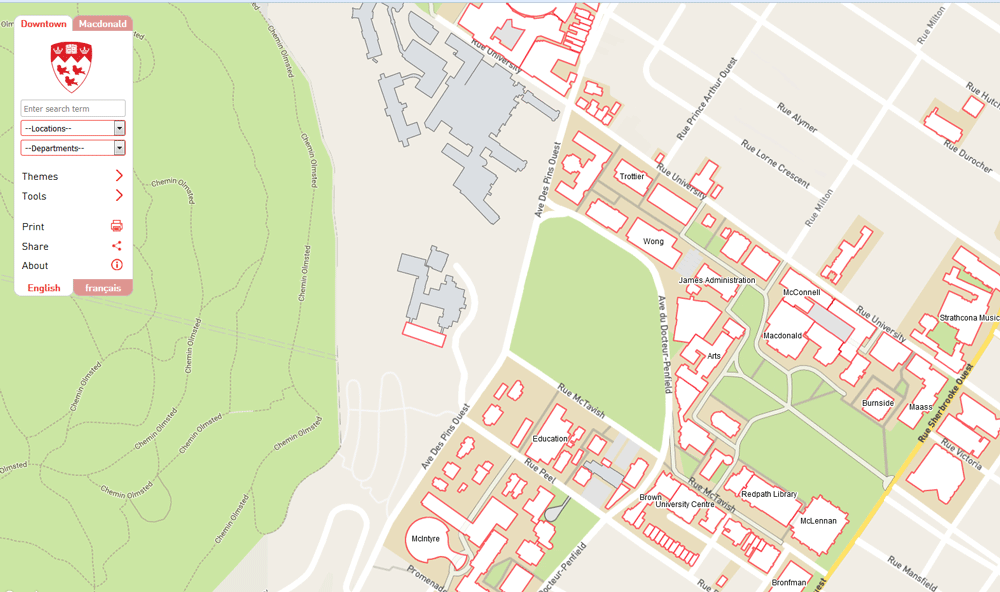 Mcgill Campus Map McGill Campus Maps | Campus Planning and Development Office