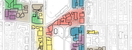 Map of McGill's downtown campus