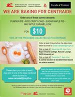 Centraide pie fundraiser poster