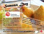 Samosa sale in the James Admin poster