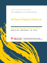 "Conférence ""The Power of Property in Private Law"""