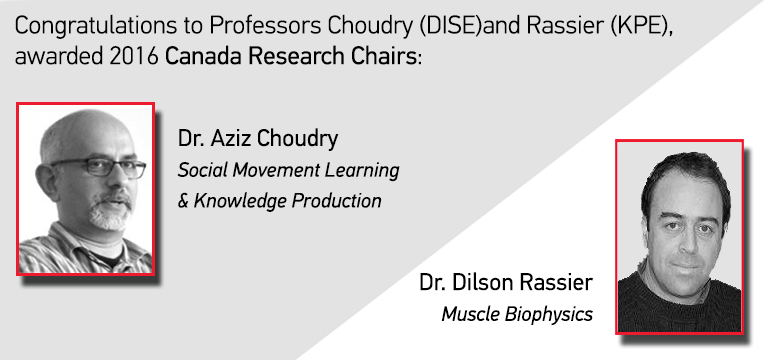 Professors Choudry Rassier awarded Canada Research Chairs  sc 1 st  McGill University & Professors Choudry Rassier awarded Canada Research Chairs ...
