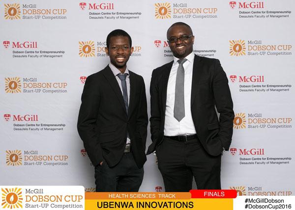 Photo of Charles and advisor Urbain Kengni