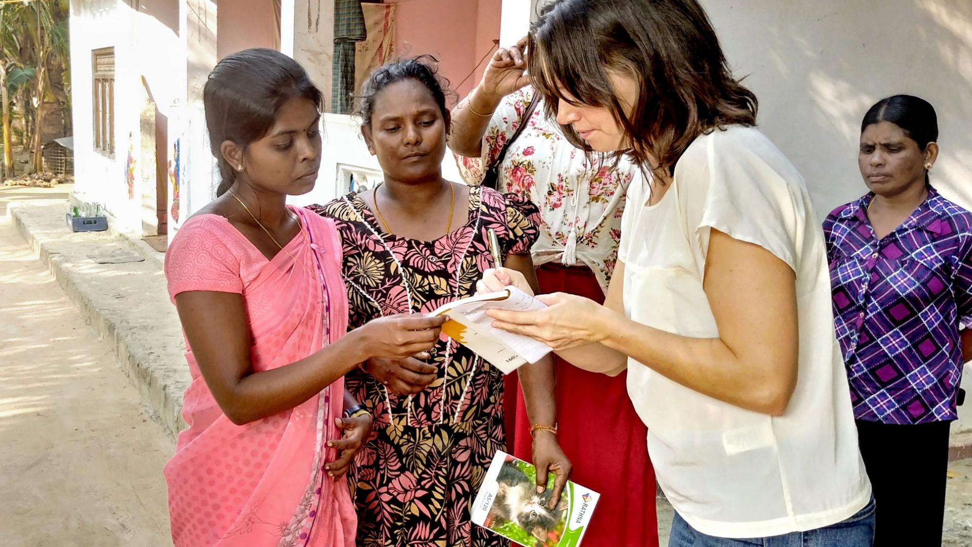 Kate Sinclair in Sri Lanka