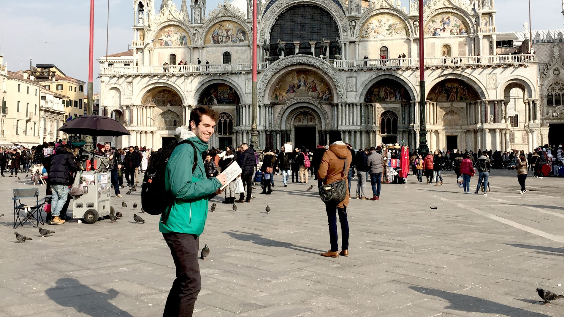 Juan visiting Piazza San Marco on his second day in Venice
