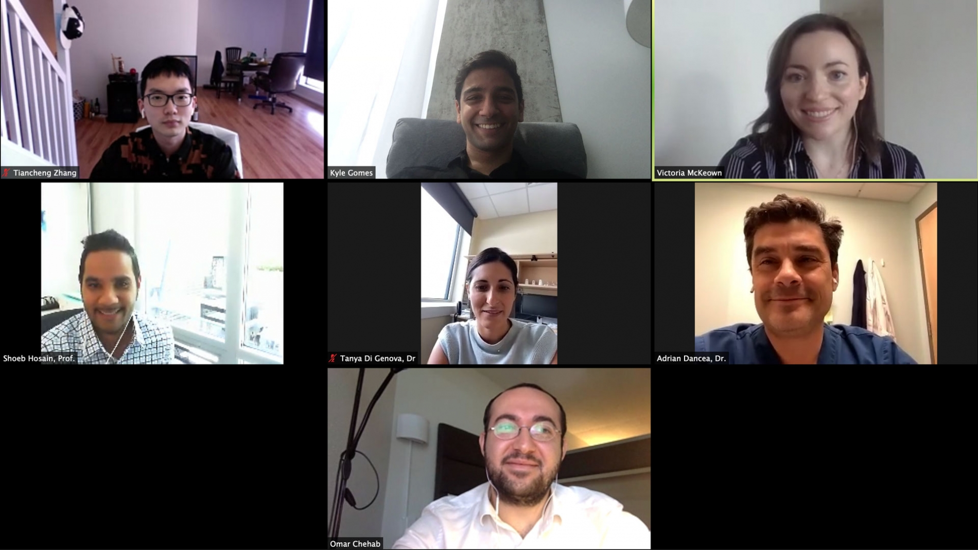 Students during a virtual meeting