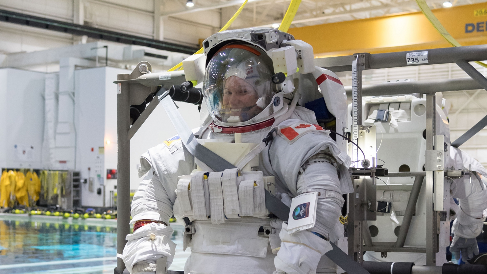 Photo of Jenni Sidey-Gibbons in her astronaut suit
