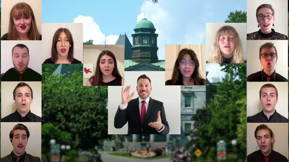 McGill choir performing at virtual convocation ceremony