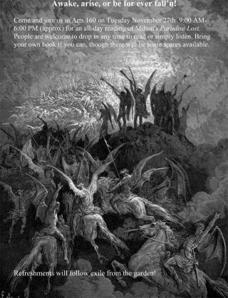 An all-day reading of Milton's Paradise Lost - Poster