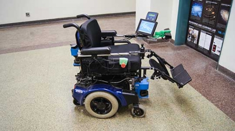 wheelchair equipped with smart technology
