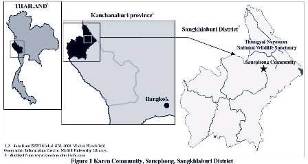 Map showing location of Karen