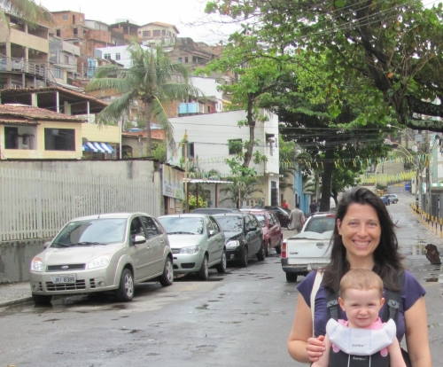 Dr. Andermann during a site visit in Salvador da Bahia, Brazil