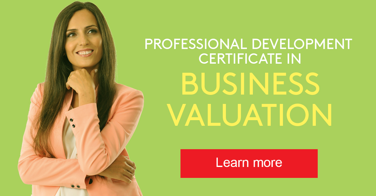 Learn more about the Professional Development Certificate in Business Valuation