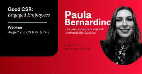 Paula Bernardino Good CSR: Engaged employees McGill CATS Workshops