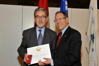 Dr. James Archibald receives the Queen's Diamond Jubilee Medal
