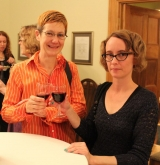 Hélène Roulston and Cheryl Smeall at the 2017 McGill Associates Prize in Translation reception.
