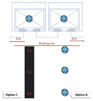 Elevator diagram showing spacing requirements