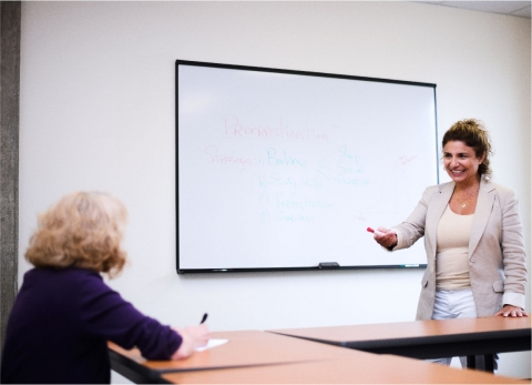 Instructor facilitating a workshop